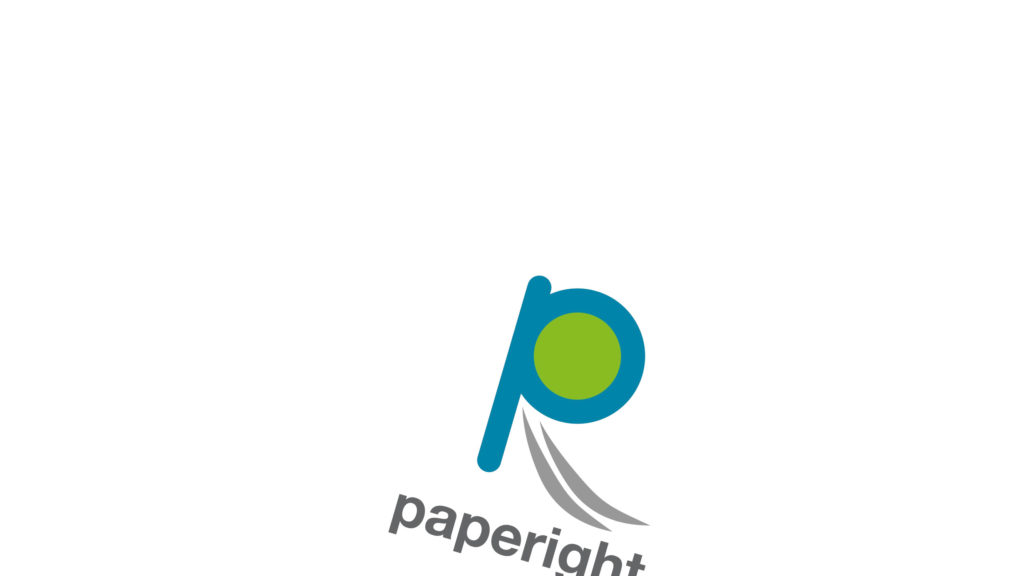 The Paperight logo slated and leaving the image at the bottom